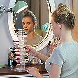 MAKARTT Makeup Brush Holder 12 Spaces Acrylic Clear