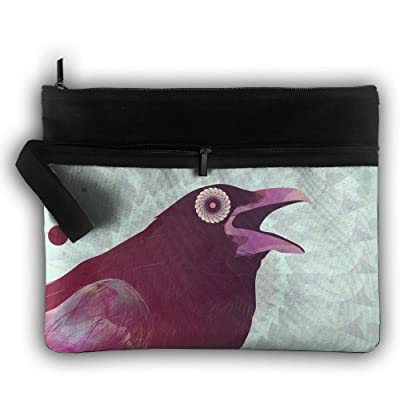 5179a55037992f 70%OFF Creative Crow Birds Lightweight Trip Toiletry Bag Travel Receive Bag  Organiser Portable Double