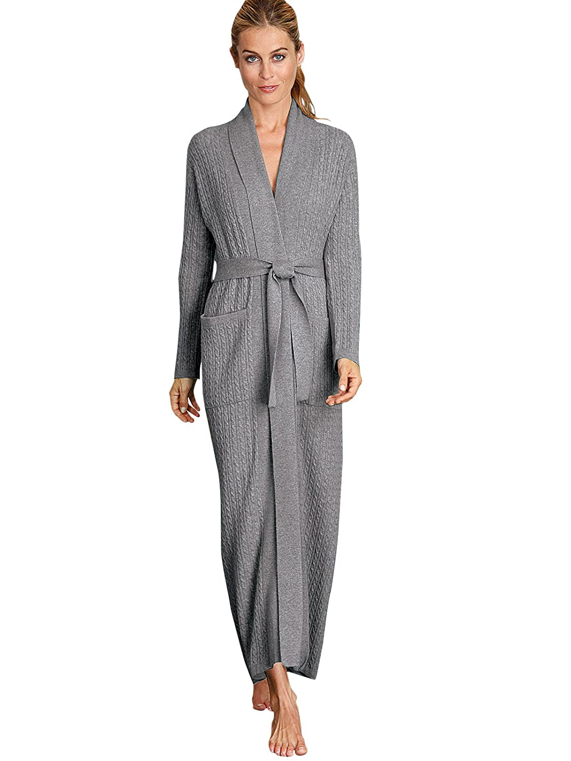 898083127f Schweitzer Linen Angie Cashmere Robe at Amazon Women s Clothing store