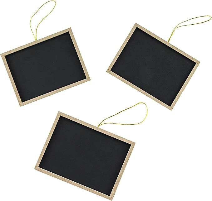 3-Piece 5-Inch Wooden Chalkboard Clothespins 1pc Chalk Rectangle