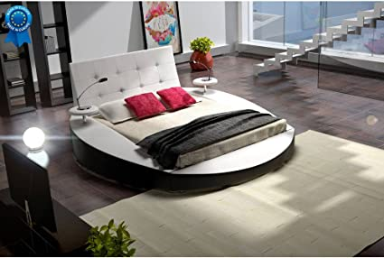 mobilier nitro Cama Redondo Blanco Design Tiziana 160 cmx200 ...