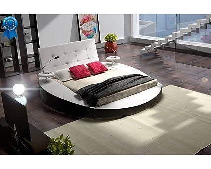 mobilier nitro Cama Redondo Blanco Design Tiziana 160 cmx200 cm