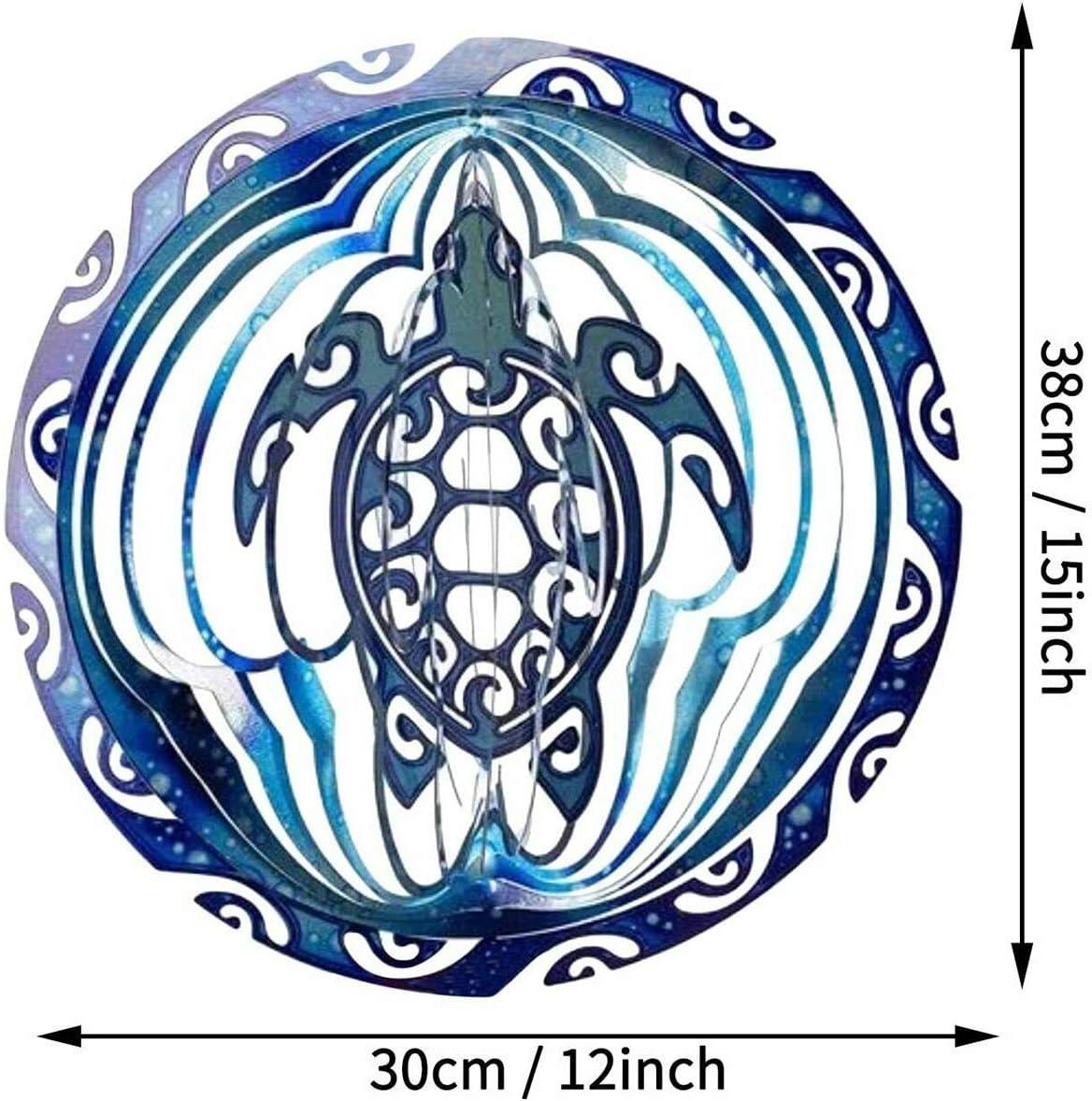 3D Innenau/ßengartendekorationshandwerksverzierungen Faltbares Rotierendes Windspiel Rongchuang Metallwindspinner