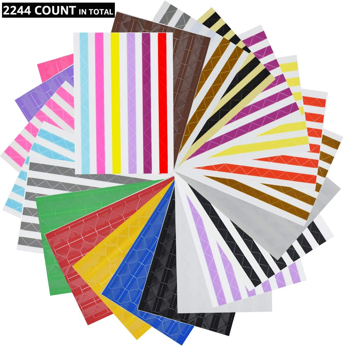 autoadhesivas VIPbuy 2244 pegatinas de esquina para montaje de fotos para /álbumes de recortes negro y transparente 22 hojas manualidades /álbum de fotos