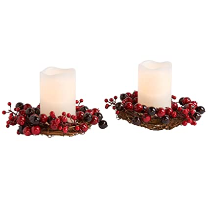Miraculous Amazon Com Orders Home Collection Cranberry Wreath Led Home Interior And Landscaping Analalmasignezvosmurscom
