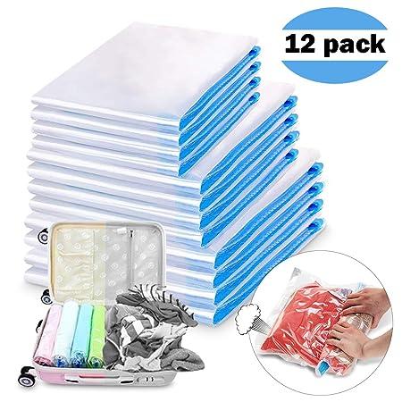 Bolsas de almacenaje al vac/ío guardarropa para ahorrar espacio Bolsas al vac/ío para almacenaje de ropa Pack de 6 bolsas de 70x110cm con cierre herm/ético.