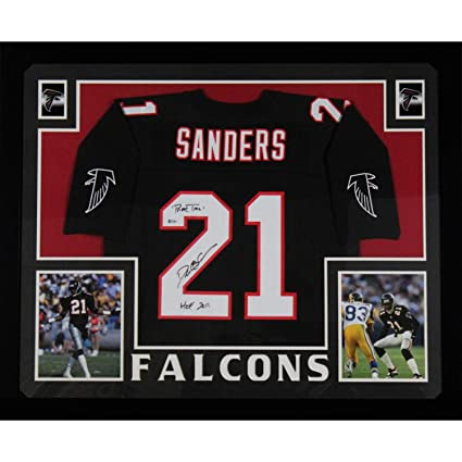 24872cfa Deion Sanders Autographed Atlanta Falcons Signed Mitchell and Ness ...