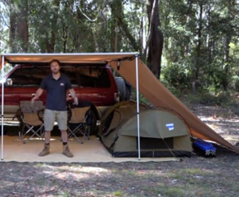Grey, 8.210ft+210ft DANCHEL OUTDOOR 6.5//8.2Lx10W Car Side Awning with 10ft Side Extension