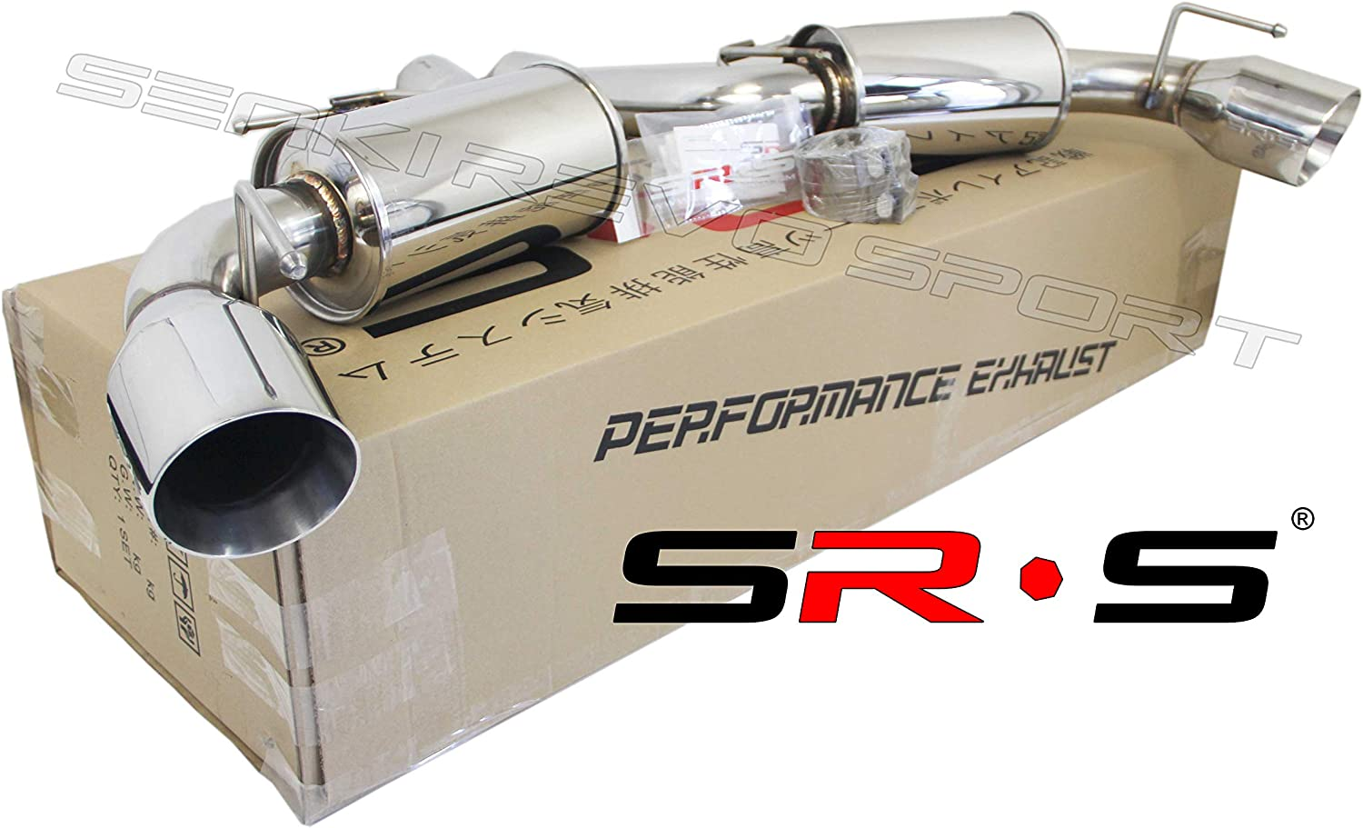 SRS catback exhaust system for 02-06 Acura RSX Type-S SRS-CBEX-ARS0206