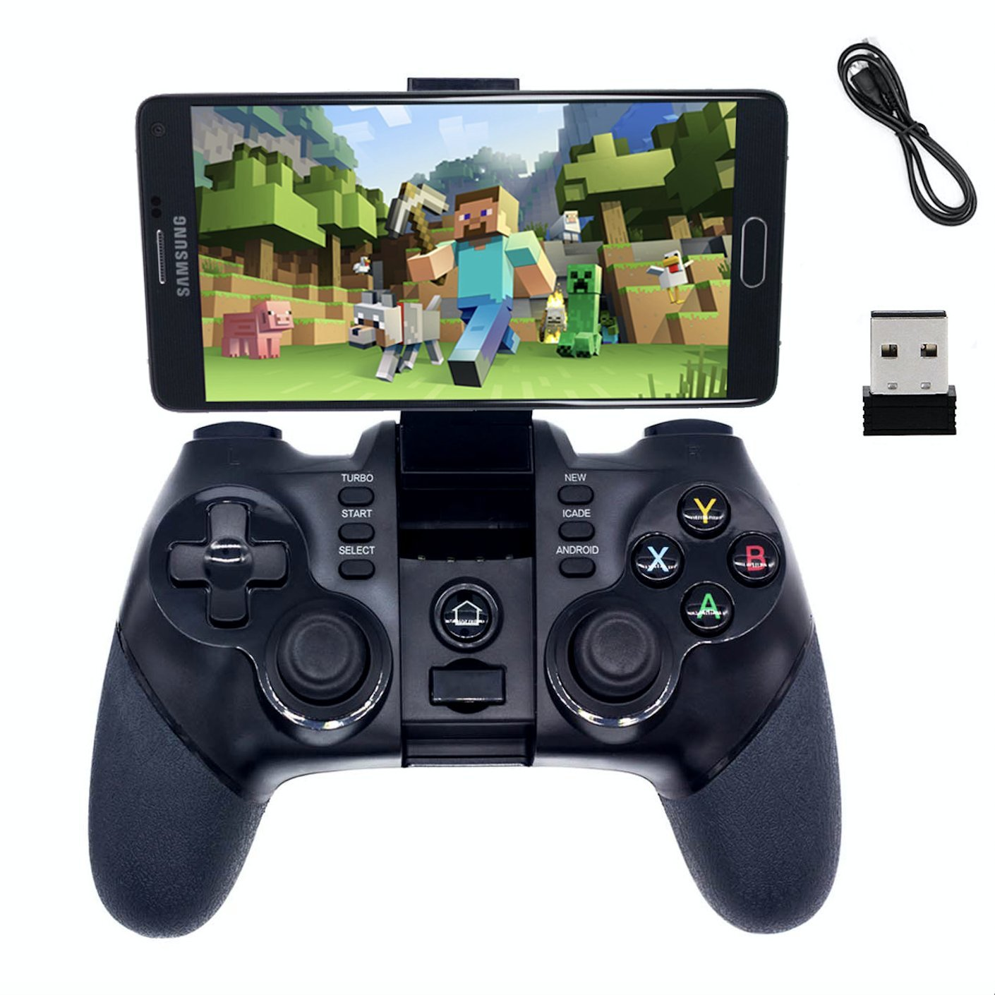 BRH 2.4G Wireless Bluetooth Game Controller Gamepad for Android Smartphone, PS3, Tablet, PC Windows 7/8/10, Gear VR, TV Box, Fire TV - Black by BRH