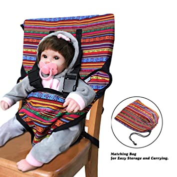 8724dd1262c LINPAS Portable Travel Baby High Chair and Feeding Booster Safety Seat  Harness for Infants and Toddlers ...