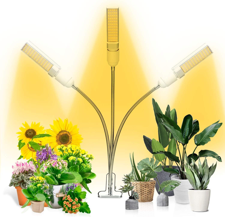 Amazon Com Grow Light Ankace Full Spectrum Grow Lamp Tri Head