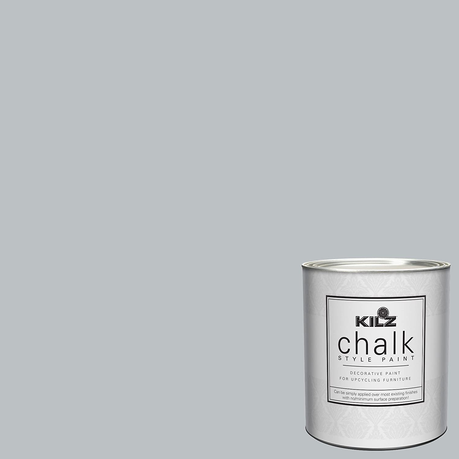 This blue grey chalk paint seems perfect for a Swedish Gustavian look. Kilz Platinum Ring chalk paint is a beautiful color to paint a cupboard, dresser, table, or furniture piece where you want a painted Swedish Gustavian Old World look!