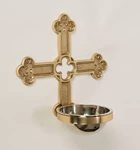 Wall Mounted Ornate Church Holy Water Font - Chalice (CCG-272WF)