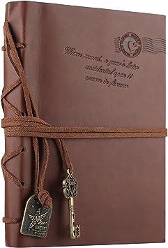 Diario De Viaje Portátil Goodyh Classic Clave Bound Retro Notebook Diario Sketchbook Regalos Con Unlined Revistas De Viaje Para Escribir En Para Los Niños Y Las Niñas El Bloc De Notas