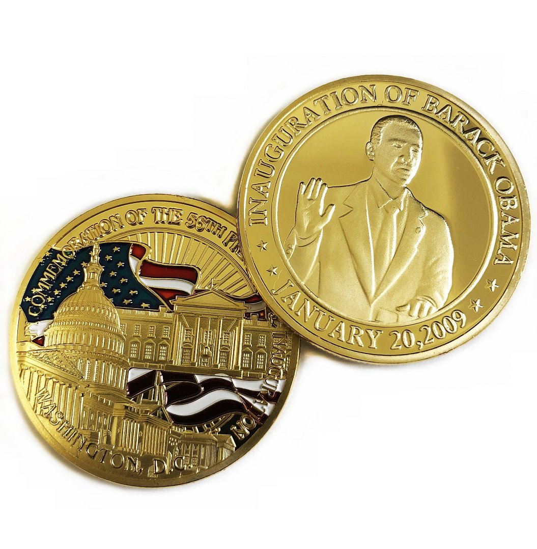 President Barack Obama Commemorative Coin Challenge Coins Novelty Coin Gold  Plated