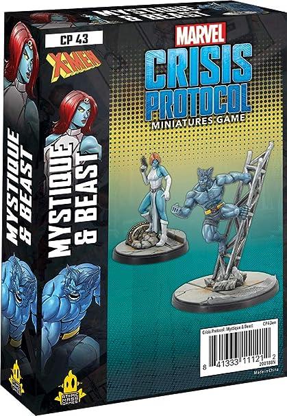 Amazon.com: Atomic Mass Games Marvel Crisis Protocol: Mystique & Beast,  Multicoloured (CP43en): Toys & Games