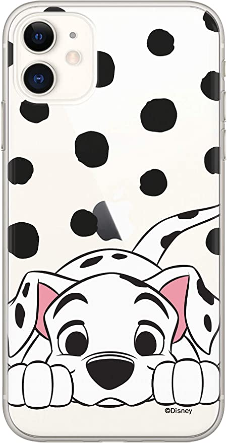 ERT Disney DPCDAL3131 Coque pour iPhone 11 Motif Dalmatien Transparent