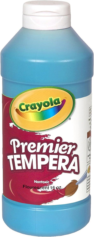 B0006HVTAC Crayola Fluorescent Paint 16-Ounce Plastic Squeeze Bottle, Ele Countric Blue 71jjZzVY2BPL