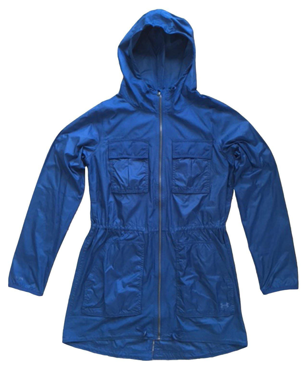 Under Armour Women UA Storm Cargo Lightweight Rain Jacket (XS, Jazz blue)
