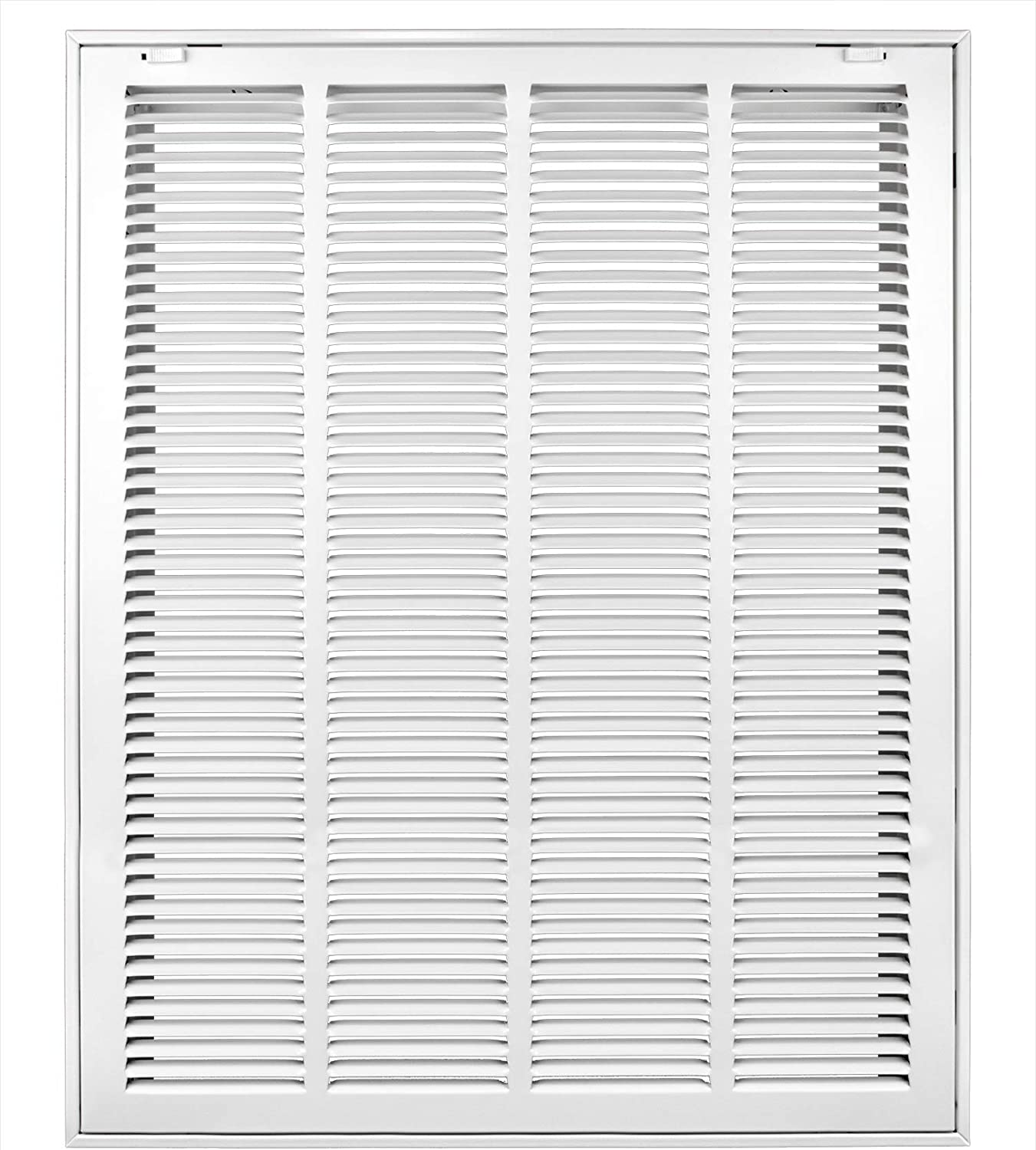 US AIRE 24 x 14 White Steel Return Filter Grille 1410F