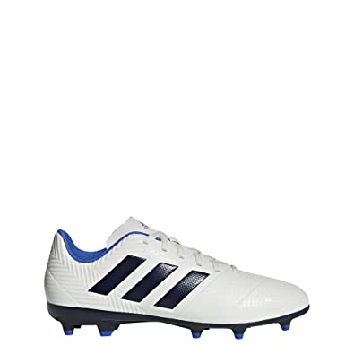 398107d9ad2a adidas Women s Nemeziz 18.4 Firm Ground Soccer Shoe Off White Legend Ink hi-