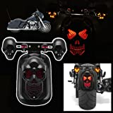 Candance Skull Integrated Rear Tail Light Side Mount Plate w/ Turn Signal for Harley Honda Suzuki Kawasaki Yamaha / Motorcycle Skull LED Rear Tail Light Mount Plate for Harley Yamaha Classic Bikes MOTORCYCLE SKULL LED INTEGRATED REAR TAIL LIGHT SIDE MOUNT PLATE FOR HARLEY Motorcycle Cruiser Red Turn Signal LED Tail Brake Stop Light