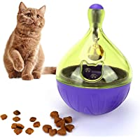 Interactive Cat Toys Treat Ball - Cat Toys Food Dispenser Cat Chew Toy for Boredom Pet Slow Feeder Toy Improve Intelligence IQ Puzzle Toy