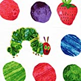 The Very Hungry Caterpillar Dots Large Scattered Fruit Fabric By The Yard