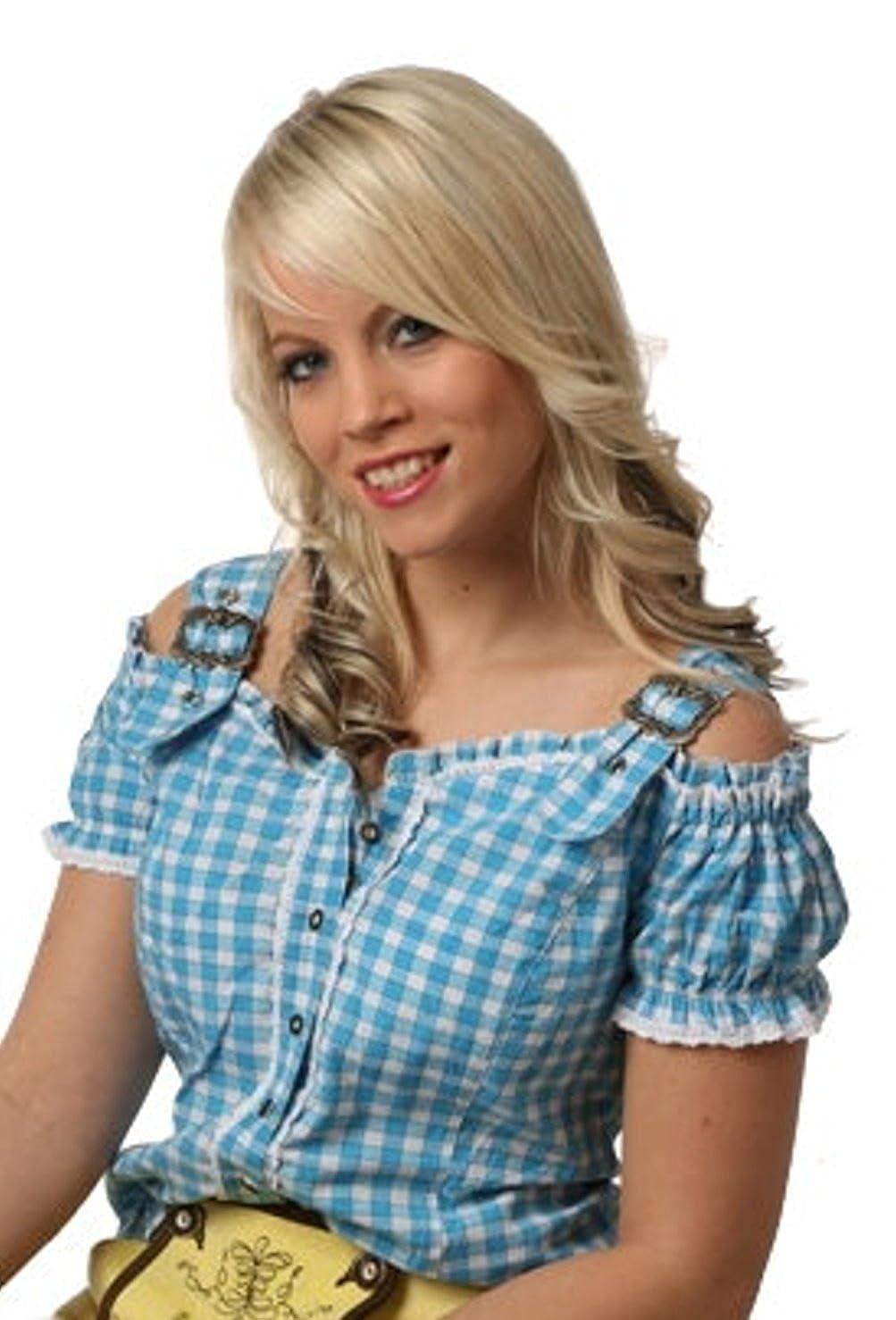 Fuchs Trachtenmoden Damen Trachten Blause mit Carmenarm und Metall Schließe B00N2OSCLU TrachtenBlausen Schöne Farbe
