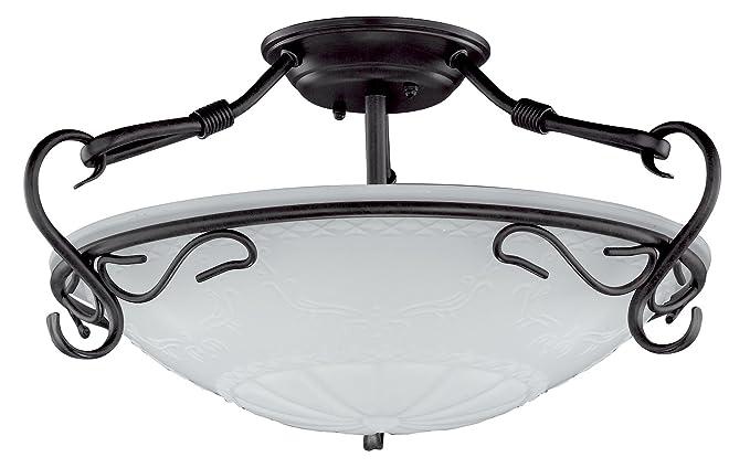 Honsel 26023 - Lámpara de techo con aire antiguo (3 bombillas E27, 60 W, 22 cm)