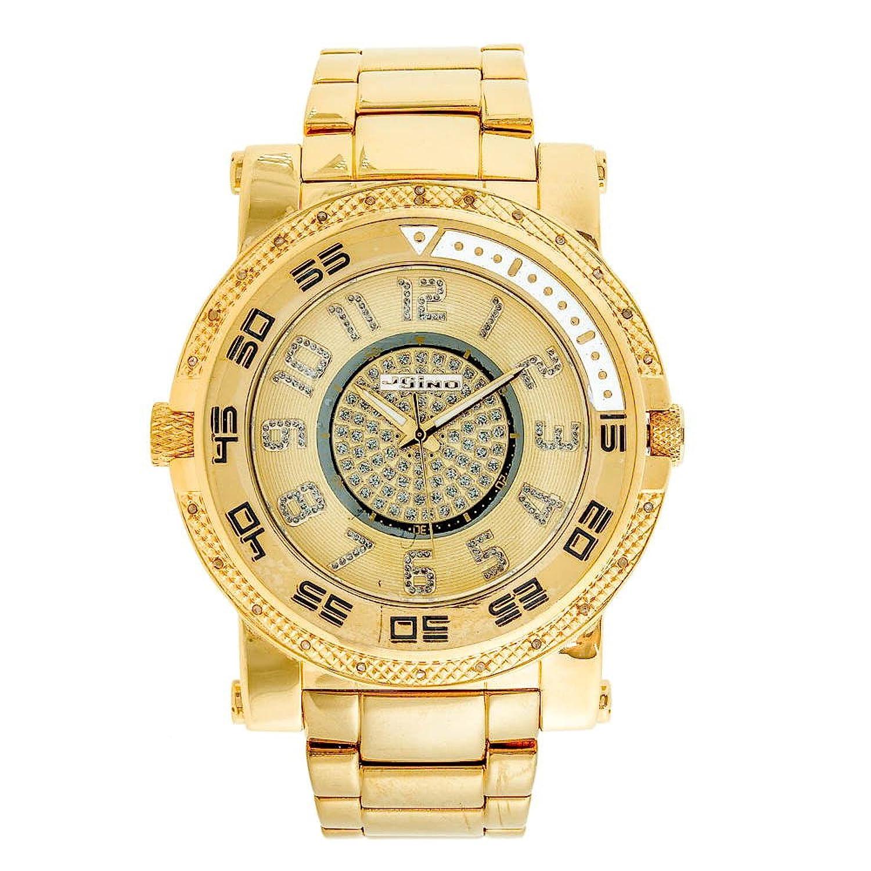 Jojino Kanada mj-1227. 57.55 mm. Rund. Herren Diamant Uhr. (gelb)