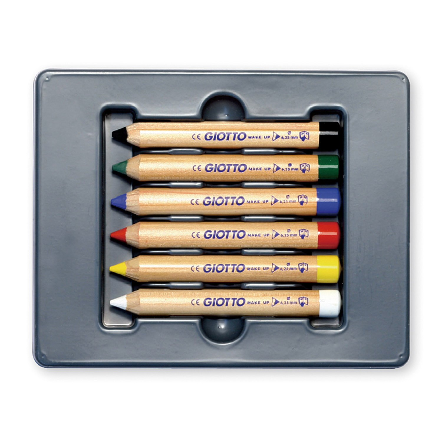 ESTUCHE 6 LAPICES MAQUILLAJE GIOTTO MAKE UP COLORES SURT.