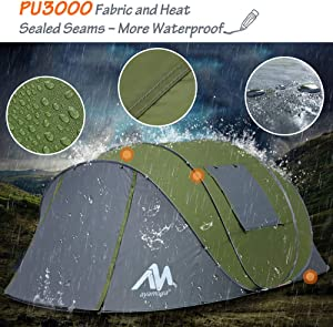 The best 4 season tent Ayamaya Pop Up Tents with Vestibule for 4 to 6 Person