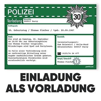 Einladungskarten Zum Geburtstag Als Vorladung | 20 Stück | Inkl. Druck  Ihrer Texte | Kindergeburtstag