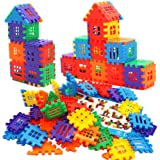 MICHLEY 100 Pcs Interlocking Builders Blocks Play Set for Child