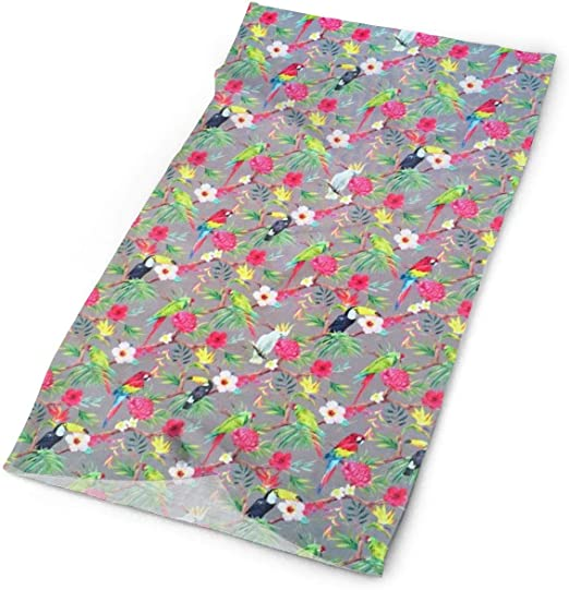 Flower Pattern Unisex Fashion Quick-Drying Microfiber Headdress Outdoor Magic Scarf Neck Neck Scarf Hooded Scarf Super Soft Handle