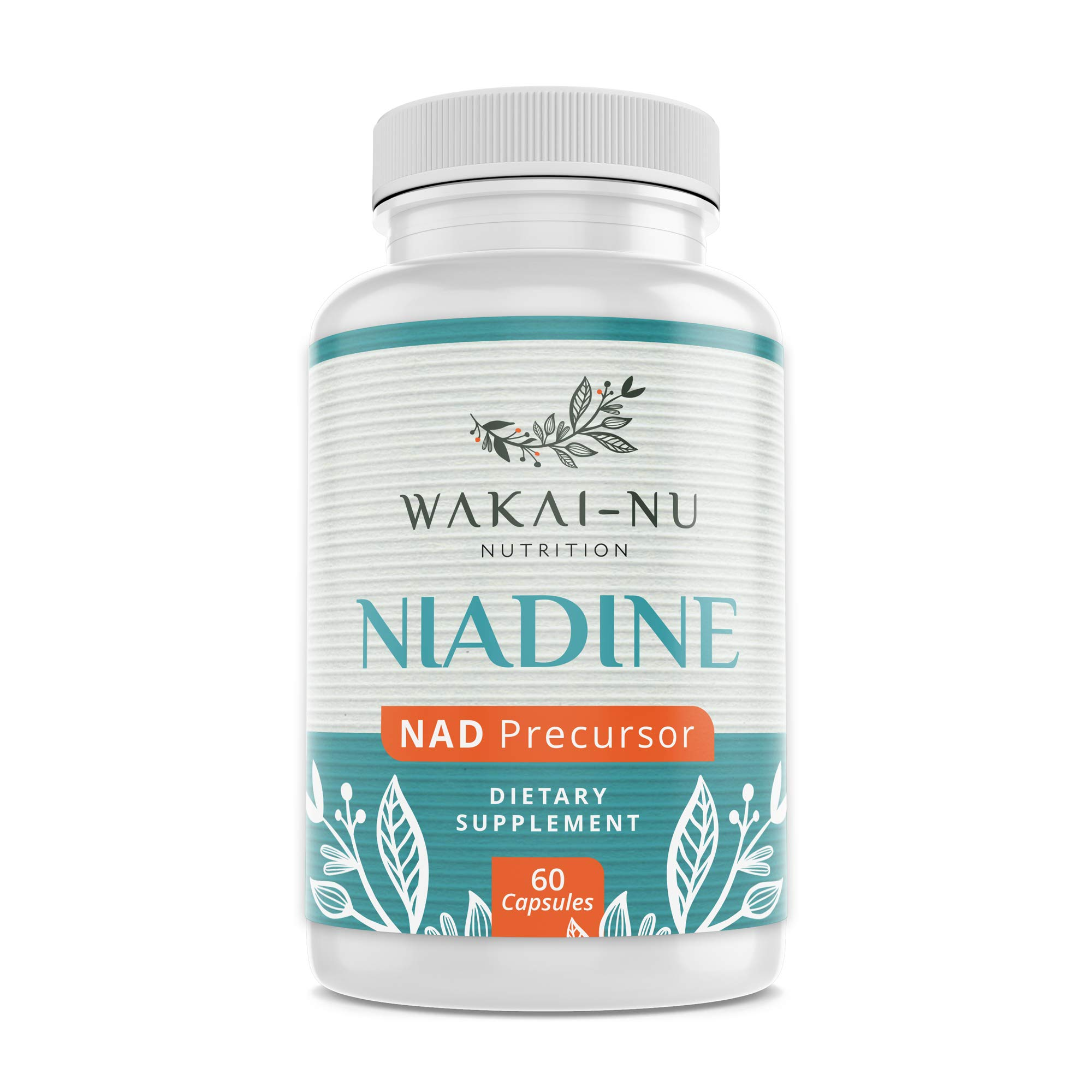Wakai-Nu Niadine - 500 mg, 60 Capsules - Nicotinamide Adenine Dinucleotide Precursor Dietary Supplement - Advanced NAD+ Production Booster That Naturally Promotes Healthy Aging & Cellular Repair by Wakai-Nu