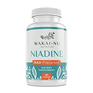 Wakai-Nu Niadine - Advanced NAD+ Production Booster - 350 mg, 60 Capsules - Nicotinamide Adenine Dinucleotide Precursor Dietary Supplement - Naturally Promotes Healthy Aging & Cellular Repair