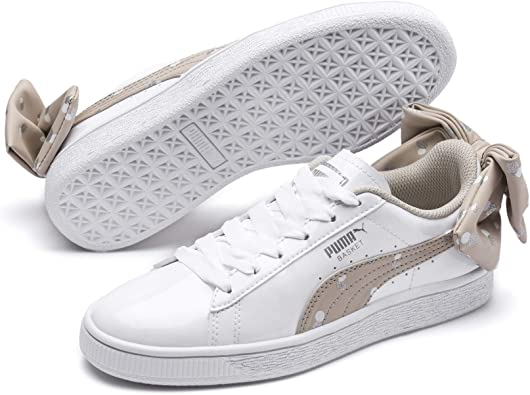 PUMA Basket Bow Dots Jr, Sneakers Basses Fille: