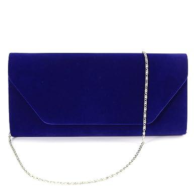 Velours Pochette mariage soiree sac à main baguette chaîne Velvet Clutch Bag 8rtAEha3mF