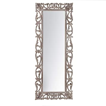 Madeleine Home Cosmo Decorative Wall Mirror | Minimalistic & Modern Carved  Wall Mount Accent Mirror Perfect for Bathroom, Powder Room, Hallway, Living  ...