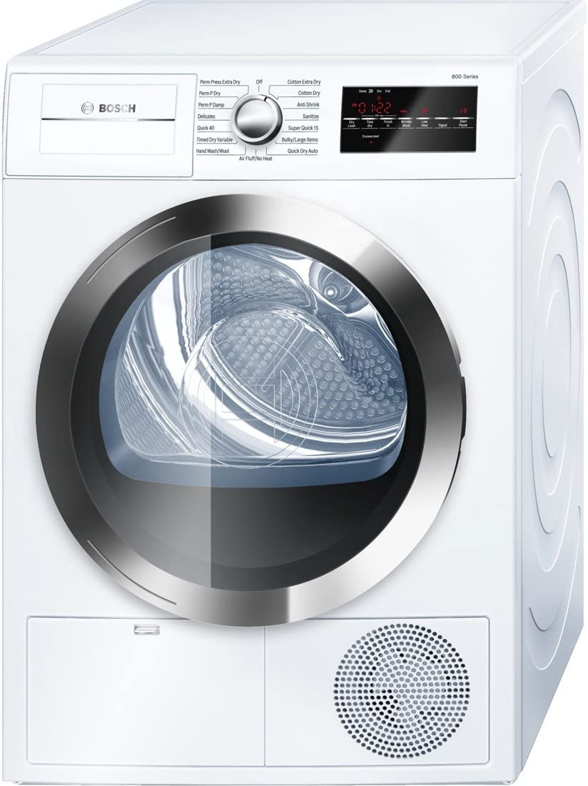 B00ZKWTRW0 Bosch WTG86402UC800 4.0 Cu. Ft. White Stackable Electric Dryer - Energy Star 71jjiW50TAL.SL1100_