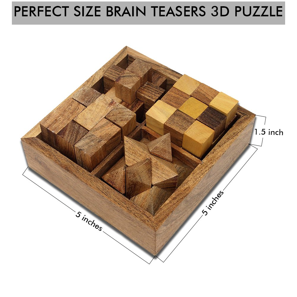 SKAVIJ Educational Games for Kids and Adults | Wooden Puzzle Toys and 3D Brain Teasers by