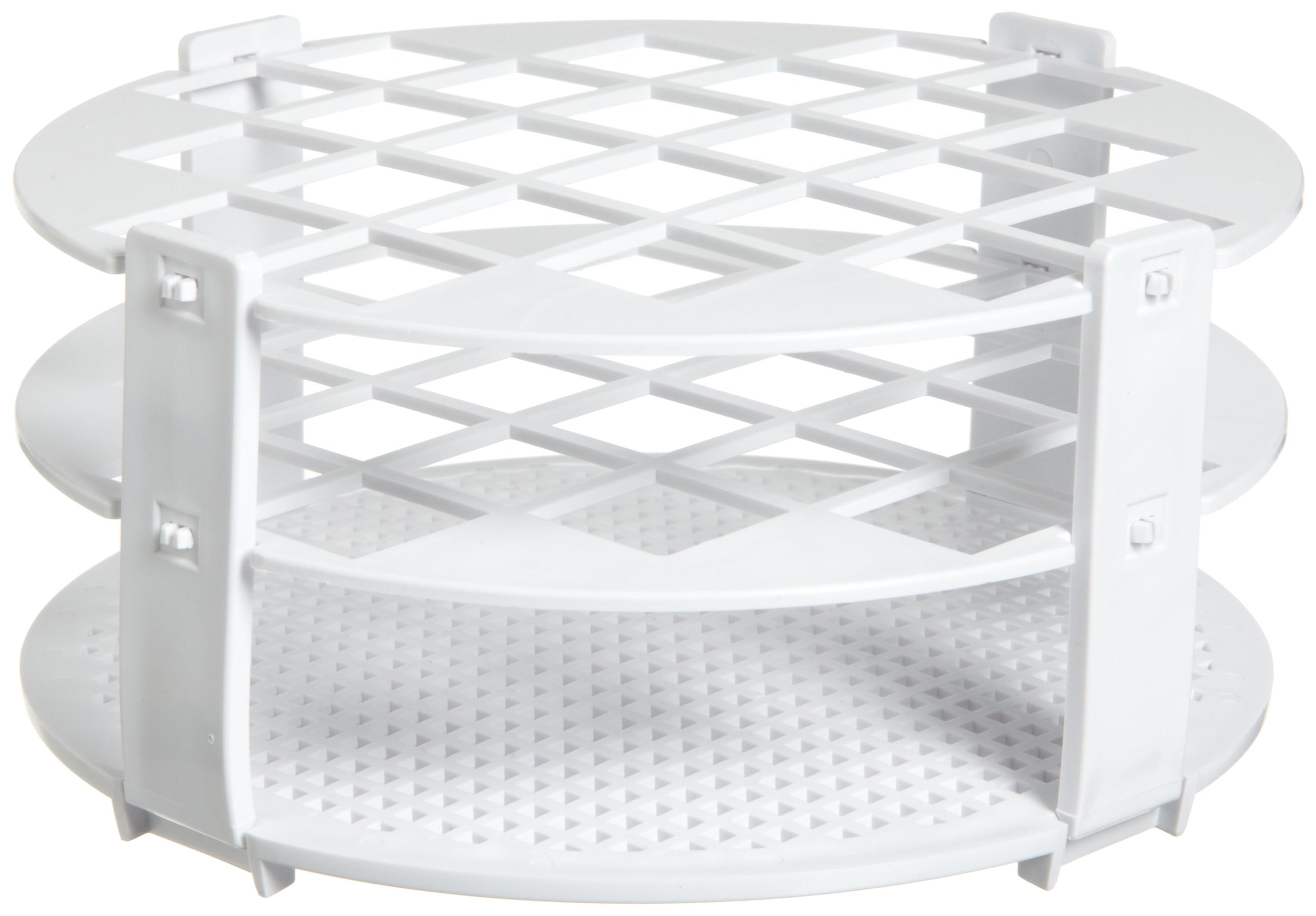 Bel-Art F18741-0020 No-Wire Round Test Tube Rack; 16-20mm, 24 Places, White, Polypropylene