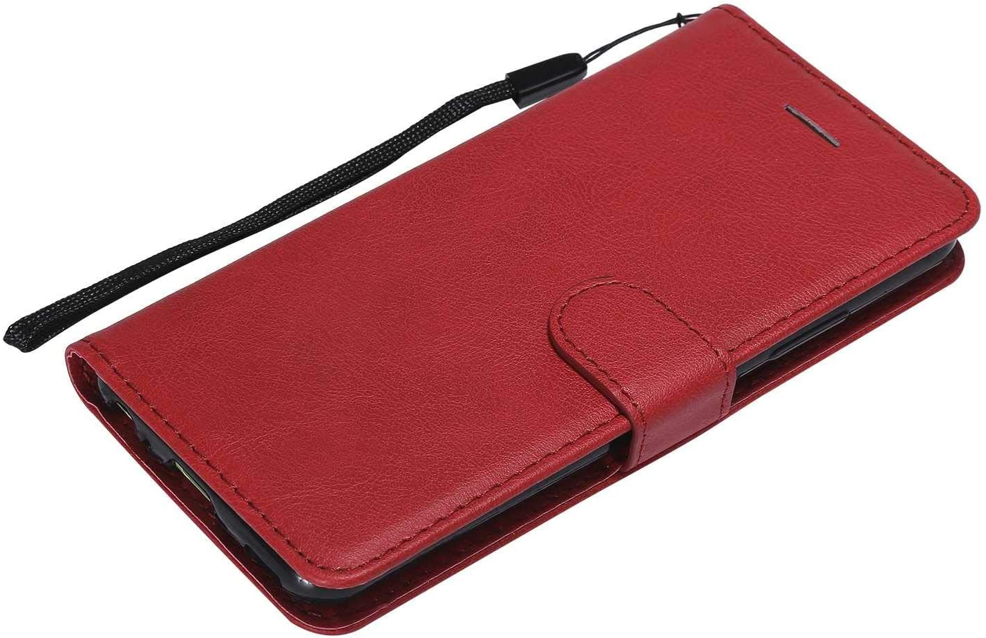 Stand Function Credit Card Slot Anti-Scratches Cover for Huawei P10 Red Huawei P10 Case The Grafu/® Shockproof Leather Wallet Flip Case