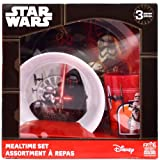 Star Wars 'The Force Awakens' 3-Piece Dinner Set | Tumbler, Bowl and Plate | Episode 7