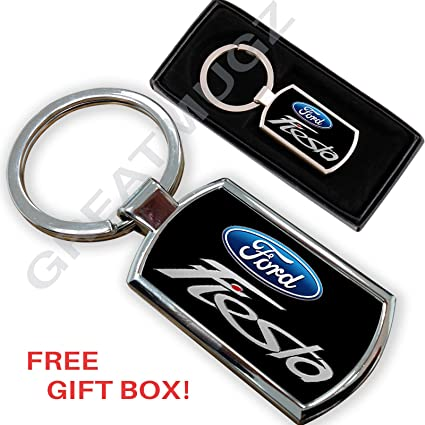 AUTOGIFTS Llavero con Logotipo Ford Fiesta: Amazon.es: Coche ...