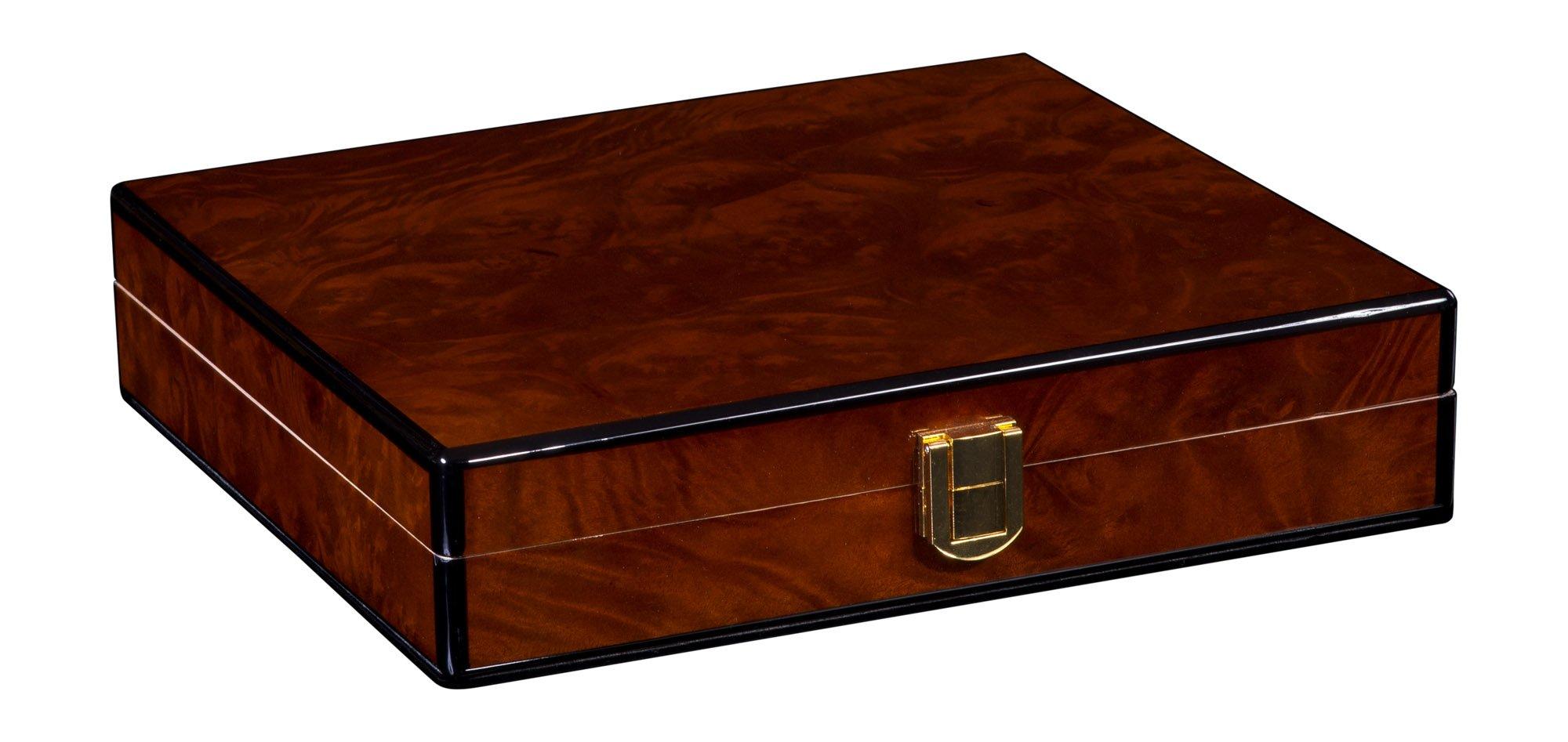 Daniel Marshall Desk-Travel Humidor in Precious Burl Private Stock Sale Humidor