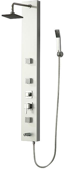 2 opinioni per DP Bath- CF-9204 Colonna Doccia Idromassaggio, Alluminio, Argento